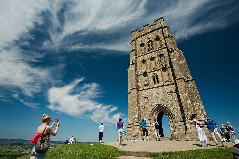 In this photo of Glastonbury Tor the Polarising effect is a little uneven, but it still enhanced what would otherwise have been an uninteresting sky