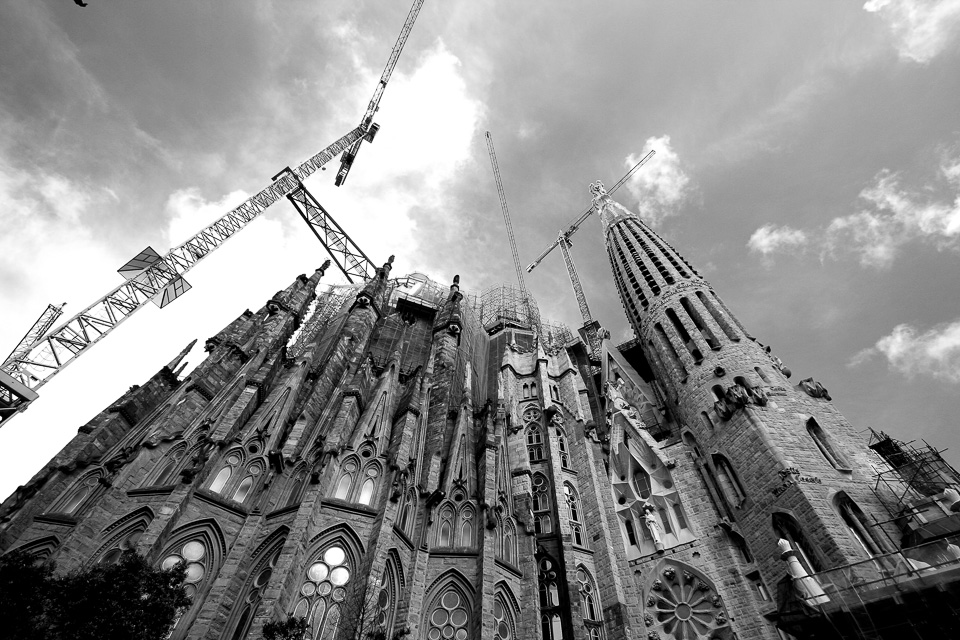 Side view of Sagrada Familia