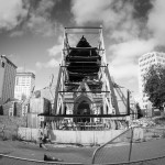 The ruins of Christchurch Cathedral. It was once the main landmark of the CBD, and its barely-standing ruins are an emotional sight.
