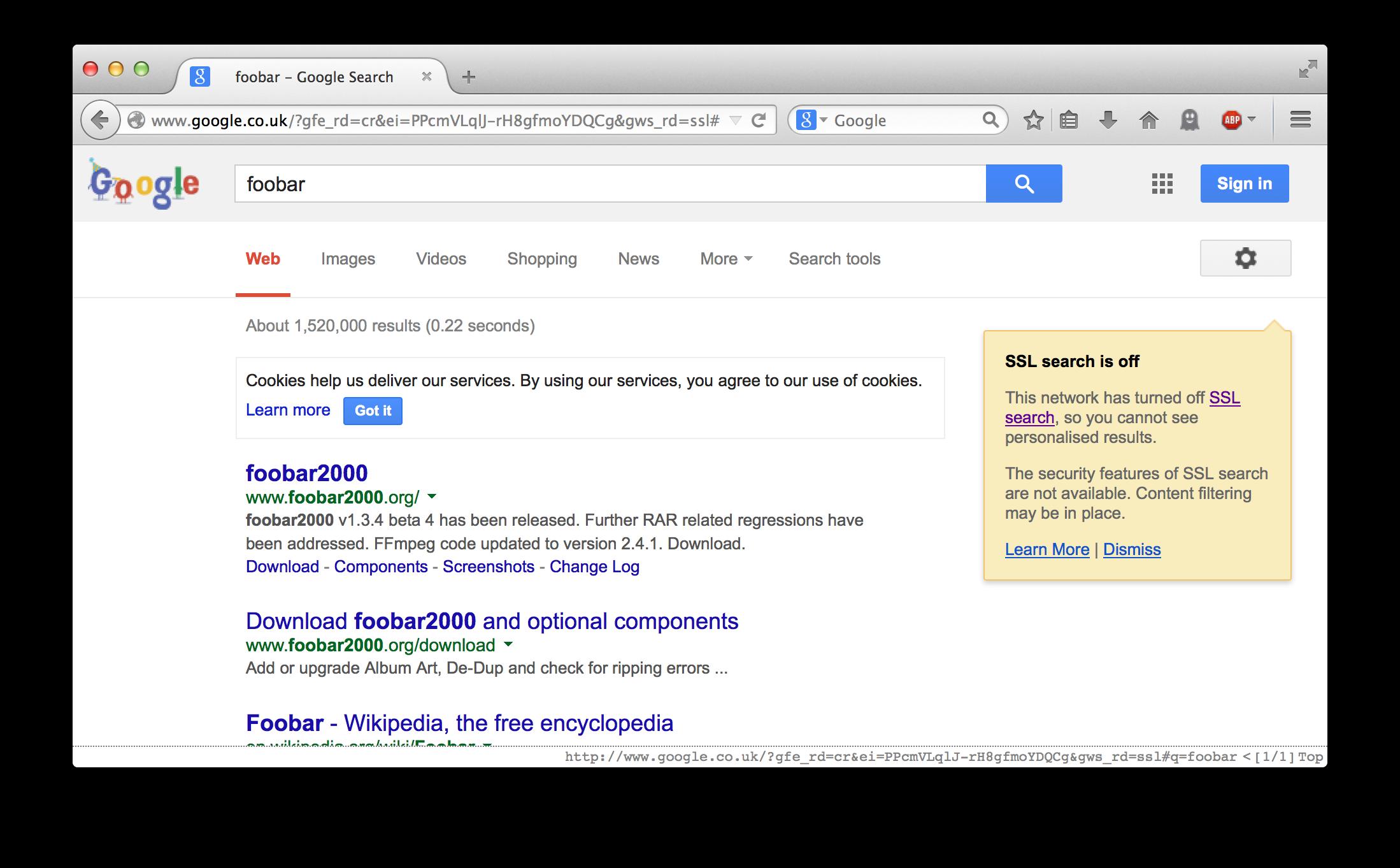 Google-SSL-disabled